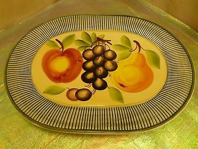 MARKETPLACE-ITALY-TOSCANA VERDE-STONEWARE SERVING PLATE/PLATTER-NO FLAWS-RARE