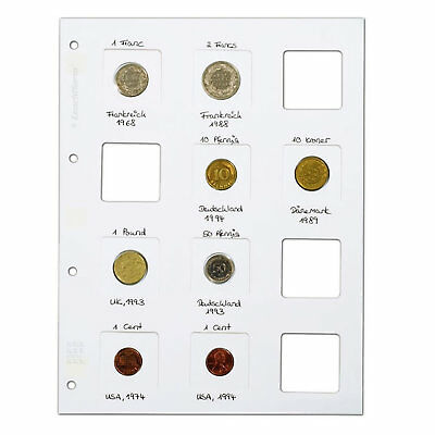 Lighthouse MATRIX Coin Holder Sheets for 12 MATRIX Coin Holders WHITE pack of 5