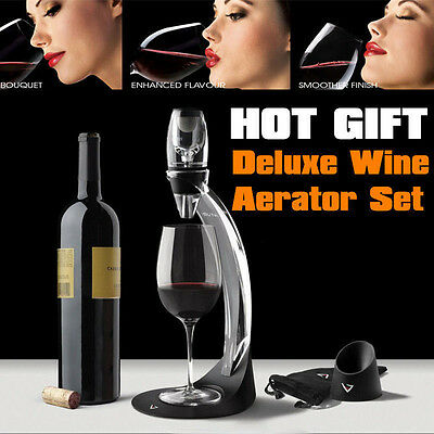 NEW FASE Aerating Pourer Decanter Rate Red Wine Travel Aerator CE AU Post