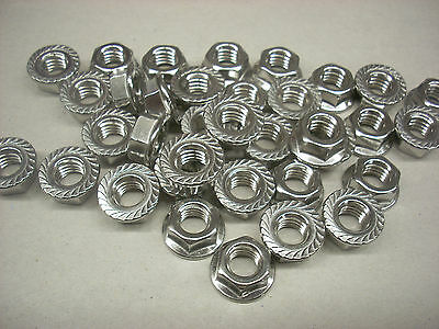 "Hex Nuts  3/8""-16, Non-Magnetic Stainless Steel, Flanged,  Lot of 100"