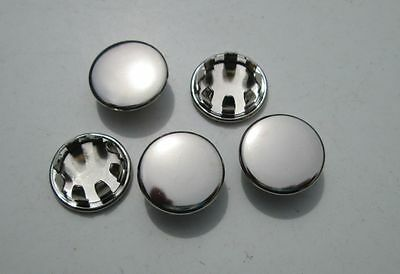 """1/2"""" Nickel Plated HOLE PLUGS Plug Buttons (10) Boat Car Truck Panel Plugs"""