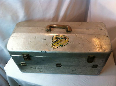 Vintage My Buddy Tackle Box/Tackle Master/Aluminum 6 Tray! With vintage luers