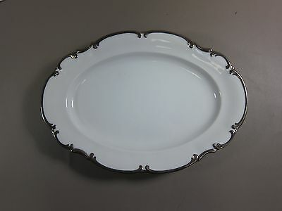 "Hutschenreuther REVERE WHITE-SYLVIA 12"" Oval Serving Platter EXCELLENT"