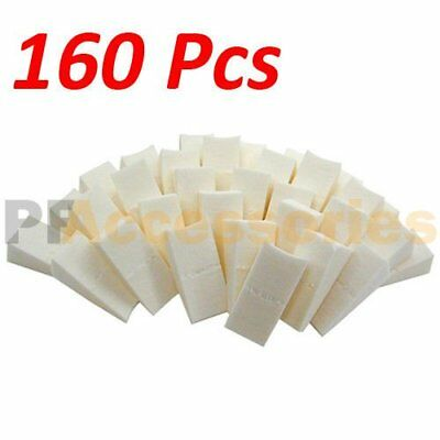 160 Pcs Wonder Wedge Makeup Cosmetic Wedges Triangle Facial Sponge White Foam
