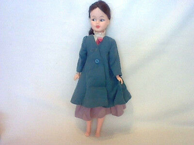 "VINTAGE MARY POPPINS DOLL BY HORSMAN 12"" TALLWITH DRESS & COAT"
