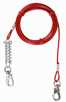 Trixie Tie Out Cable Outdoor Lead 5m Shock-Absorbing Dog Lead Spring Protection