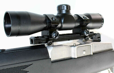 trinity hunting scope 4x32 mildot reticle with base rai mount for ruger model30