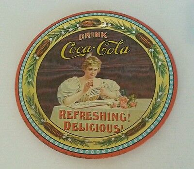 Vintage Collectible Tin Coca-Cola plate 75th Anniversary Hilda Clark Bottling co
