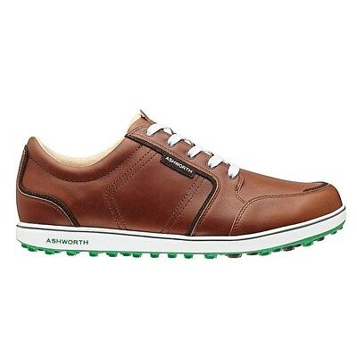 NewMen'S Ashworth Cardiff Adc Golf Shoes Brown/fairway G54281 - Pick Your Size