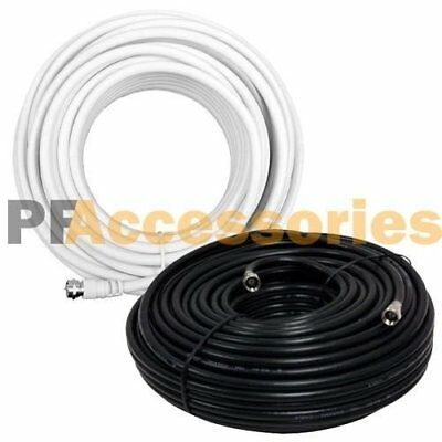 Gold Plated RG6 Coaxial Coax Cable 18 AWG Wire Double Shielded Cord Satellite TV