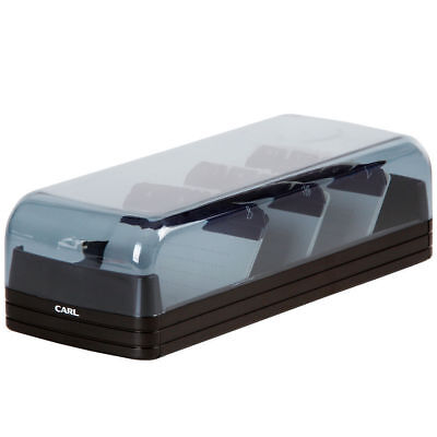 Black 800 Business Card File/Holder/Organiser A-Z Filing System Wide Opening