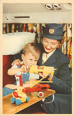 BRIO TOYS for Children on SAS / Scandinavian Airlines - Scarce Old Postcard 1950