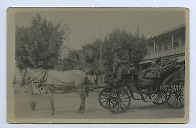C1914 Ww1 Rp Postcard Aif Soldiers In Carriage Colombo Sri Lanka (Ceylon) P79