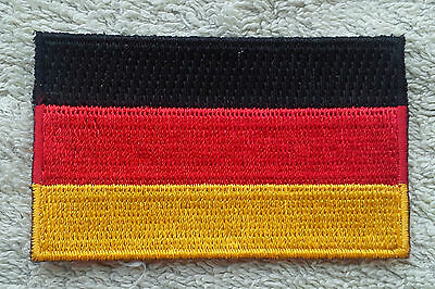 GERMANY FLAG PATCH Embroidered Badge Iron or Sew on 4.5cm x 6cm Deutschland NEW