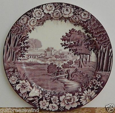 Enoch Woods Castles 'Rubens'  Wood & Sons England, Purple & White Stoneware 1910