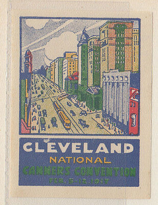 Cleveland National Canners Convention 1917 Stamp Reklamemarke
