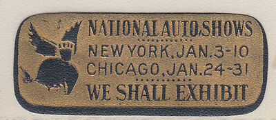 National Auto Shows  Stamp Reklamemarke