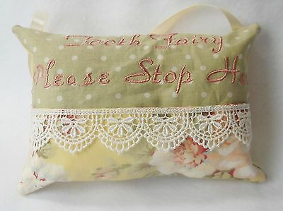 Personalized Handmade Lace and Roses Tooth Fairy Pillow