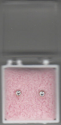 Baby's First Rhinestone Stud Earrings,14KGold-Filled,New