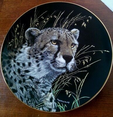 Nature's Majestic Cats African Cheetah Collectible Plate #4057A Hamilton