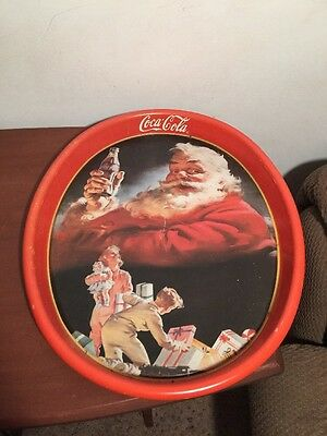 Nearly Vintage Coca-Cola Santa Claus Serving Tray, Issued 1993