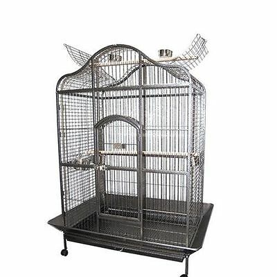 Large Parrot Aviary Bird Cage Open Perch Roof Budgie Canary Castor Wheels 183CM