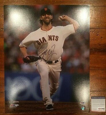 Madison Bumgarner Autographed World Series 16x20 Photo SF Giants WS MVP ITP PSA