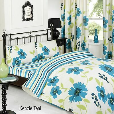 Luxury & Beautiful 3Pcs Printed Duvet Set Jasmine Grey Bed Bedding All Sizes