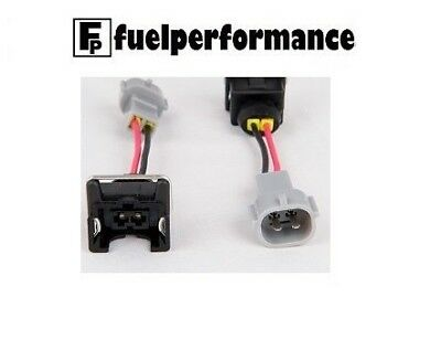 Jetronic / EV1 (Female) to Toyota (Male) Injector Plug Adaptors Wired X 4