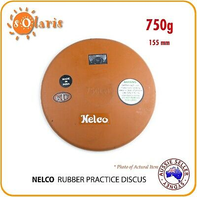 750g NELCO Rubber Compound Discus School Athletics Training Throw Implement