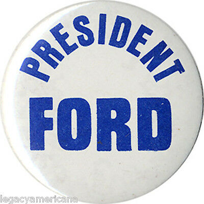 Scarce 1976 Gerald Ford Kalamazoo County Michigan Republicans Button (3087)