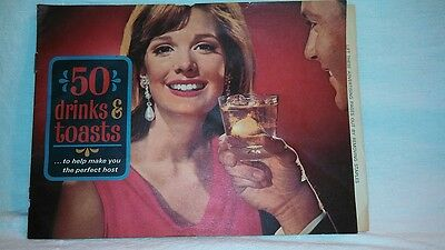 """Vintage 50's-60's Southern Comfort """"50 Drinks & Toasts"""""""