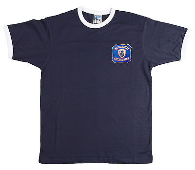 Retro Falkirk 1940s/50s Football T Shirt New Sizes S-XXXL Embroidered Logo