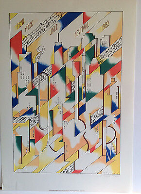 """1982 """"NEW YORK JAZZ FESTIVAL""""  POSTER NUMBERED LTD EDITION 1075/5000"""