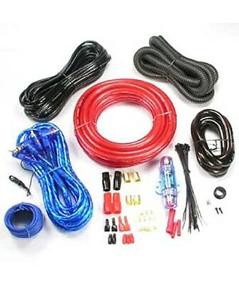 4 Gauge Ga 4AWG Car Amplifier Amp Installation Wiring Wire Kit + RCA Cable 2000W