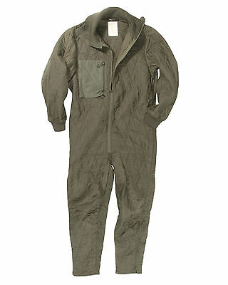 Genuine German Army Quilted Overall Coverall Combi Zipper Tanker Undersuit