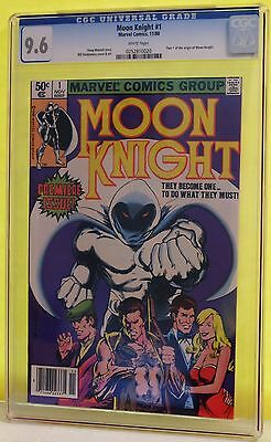 Moon Knight #1 Cgc 9.6 - White Pages