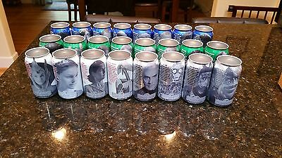 NEVER CLOSED UNSEALED Star Wars Pepsi One Diet Mt Dew Cans Complete Set of 24