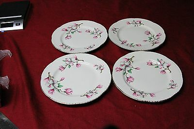 """Set of 4 Homer Laughlin Luncheon Plate 9 1/4"""" dia. Made in USA 1950"""