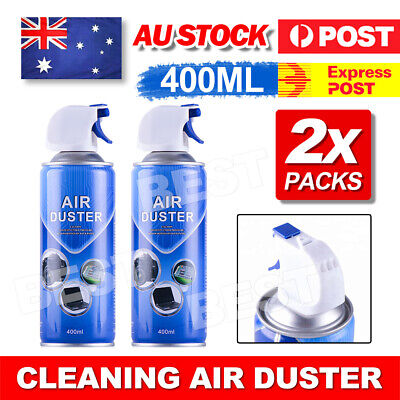 2x 400ml Compressed Air Duster Can Cleaner for Notebook Laptop PC Keyboard AU