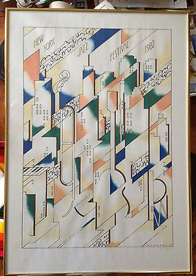 """1982 """"NEW YORK JAZZ FESTIVAL""""  POSTER NUMBERED LTD EDITION 1073/5000"""