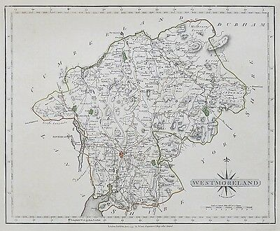 1793 Cary County Map Of Westmoreland Hand Colouring 1793