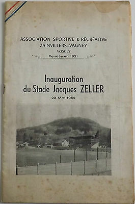1952 Friendly Spora Luxembourg V FC Metz Stade Jacques Zeller Inauguration