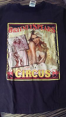 Rare Britney Spears The Circus Concert T Shirt 2009 S