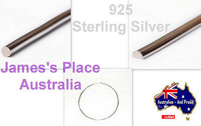 925 Sterling Silver Wire - various Gauges & Shapes