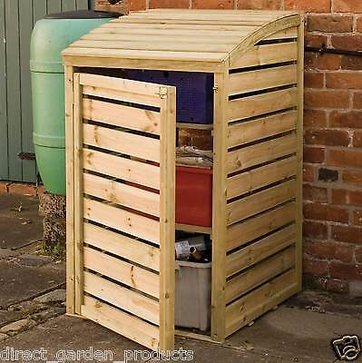 Wooden Garden Recycling Box Storage Pressure Treated Lifting Lid Recycle Store