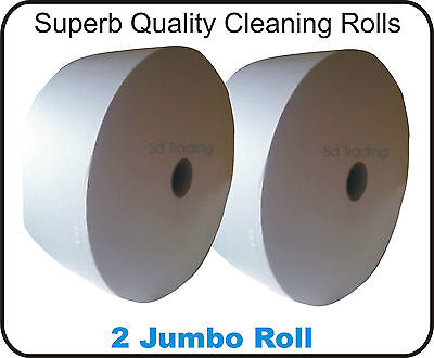 2 x Jumbo Tea Bag Tissue Filter Paper Roll Wholesale Trade not Centrefeed Blue