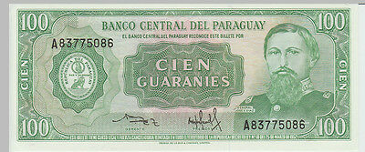 1952 100 Guaranies Paraguay Banknote - UNC - Pick 198 A83775086