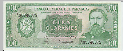 1952 100 Guaranies Paraguay Banknote - UNC - Pick 198 A95746072