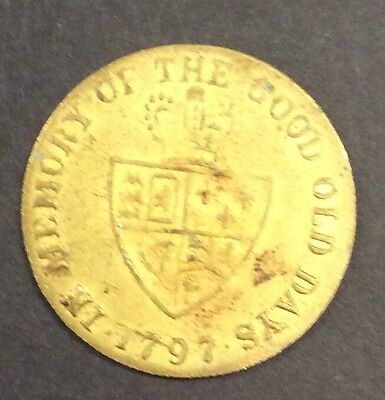 King George 111 brass gaming token dated 1797